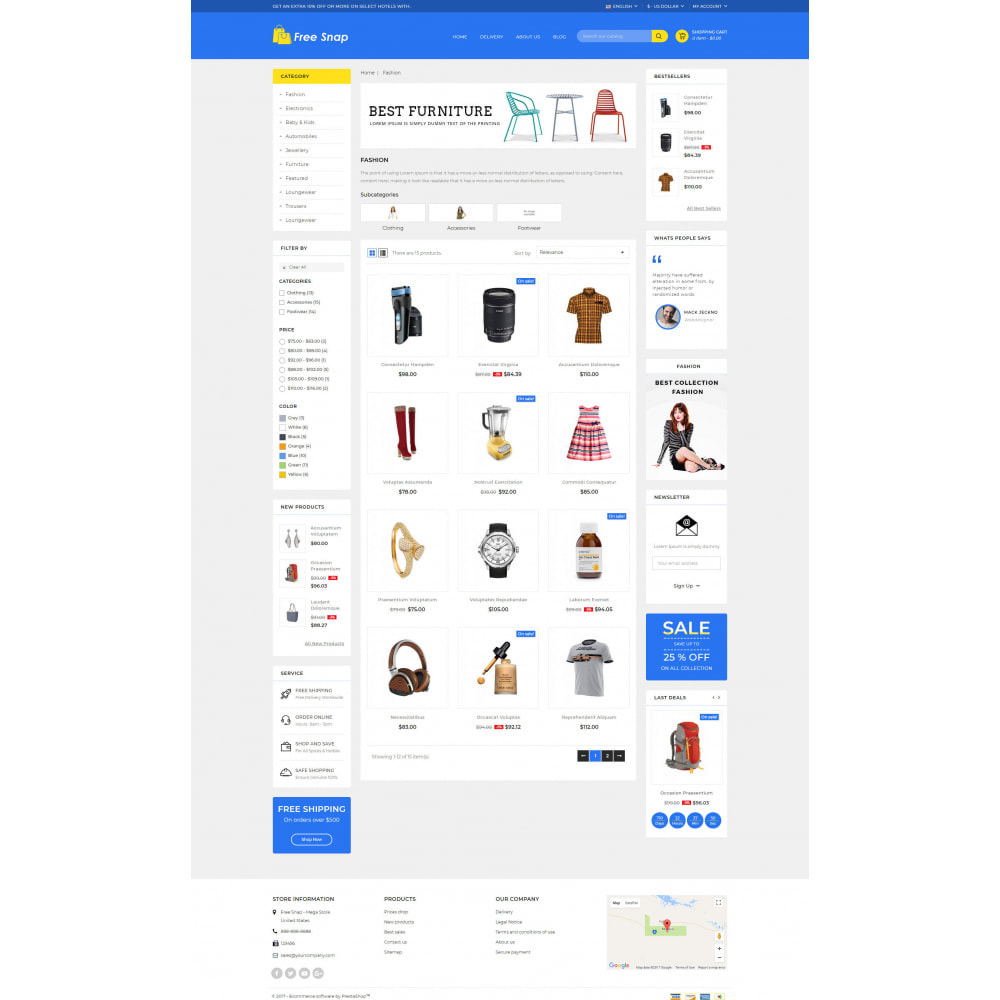 theme - Fashion & Shoes - Free Snap - Multipurpose Store - 3
