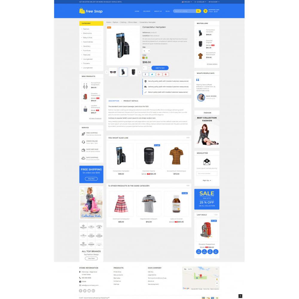 theme - Fashion & Shoes - Free Snap - Multipurpose Store - 5