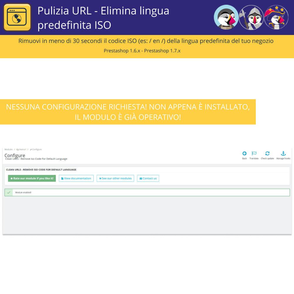 module - URL & Redirect - Pulitore di URL - Elimina la lingua predefinita di Iso - 3