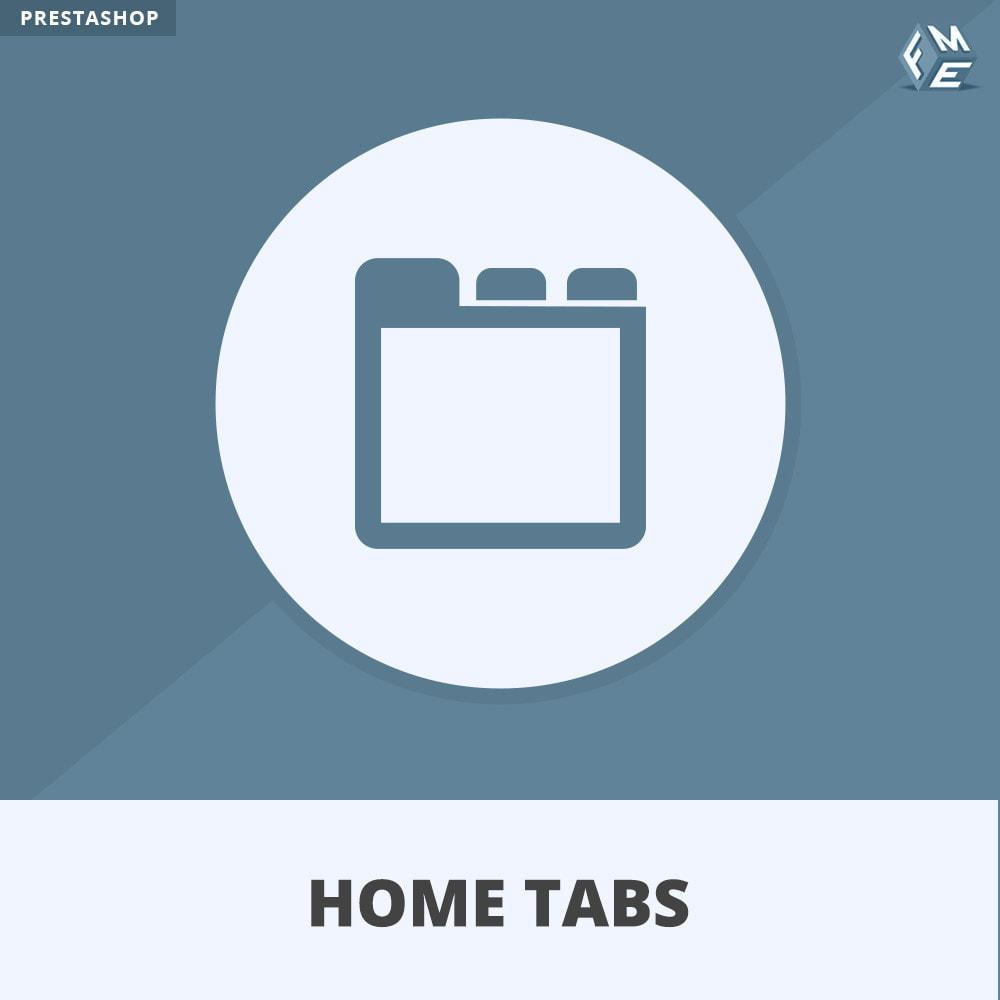 module - Blokken, Tabbladen & Banners - Home-Tabbladen - Voeg aangepaste tabbladen toe - 1