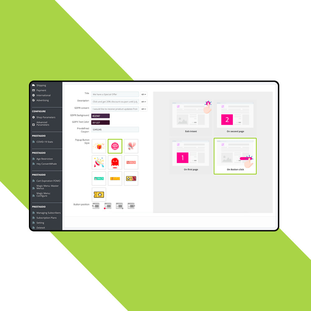 module - Newsletter & SMS - Newsletter Popup: MailChimp, HubSpot, SendinBlue + API - 7