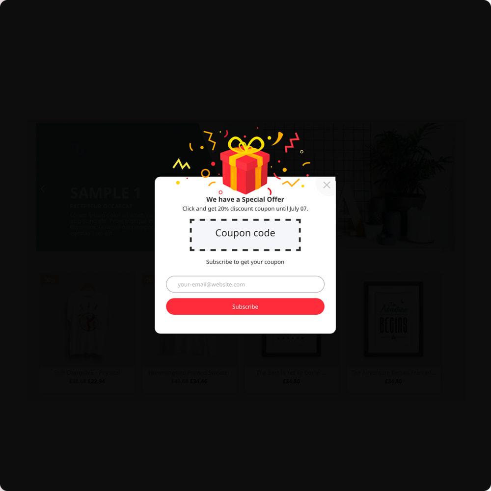 module - Newsletter & SMS - Newsletter Popup: MailChimp, HubSpot, SendinBlue + API - 9