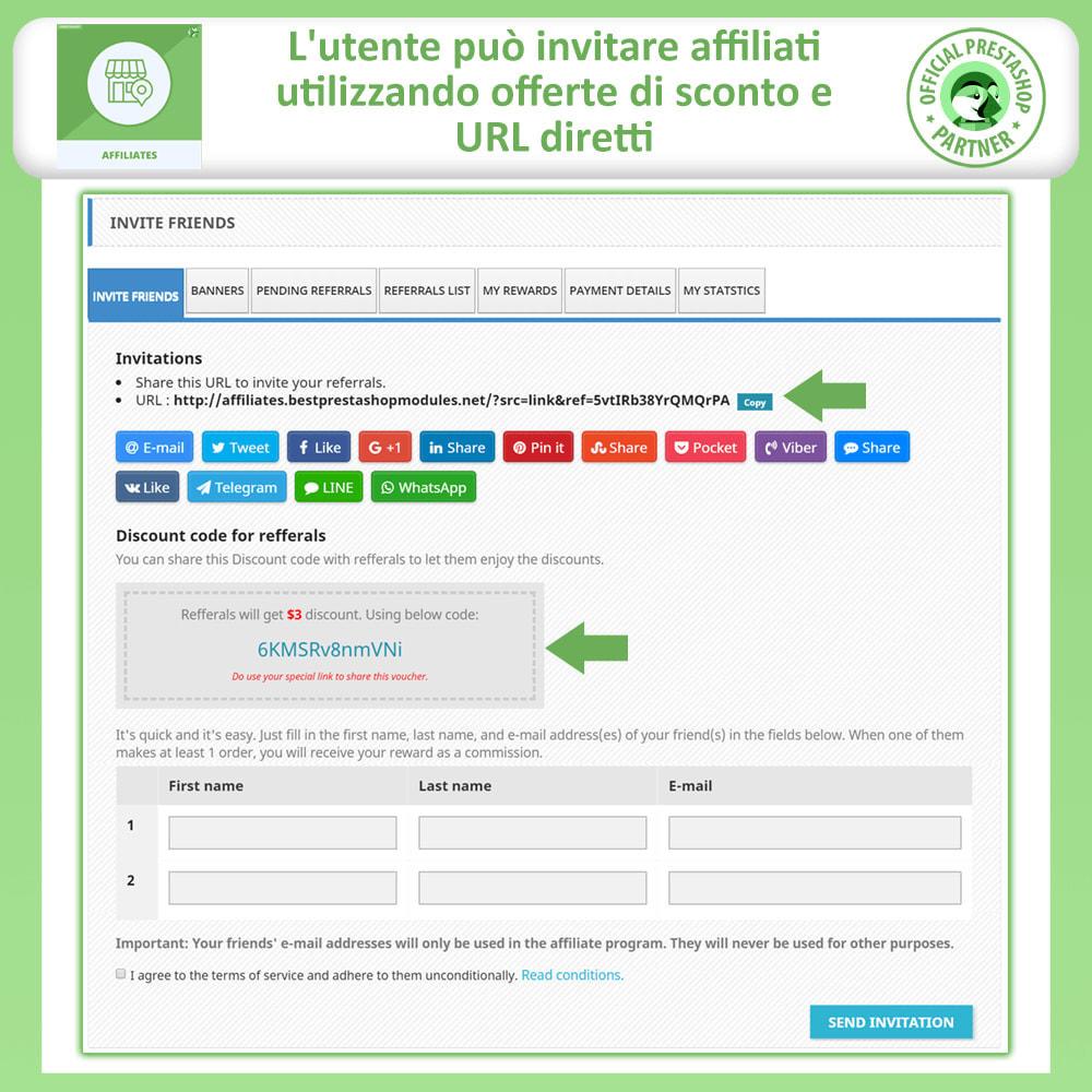 module - Indicizzazione a pagamento (SEA SEM) & Affiliazione - Affiliati e programma referral - 2