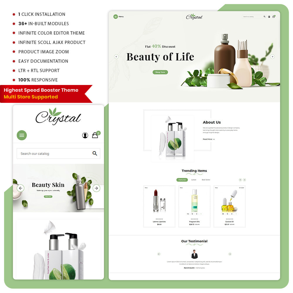 theme - Health & Beauty - Crystal Cosmétique - Cosmetic Mega Shop - 1