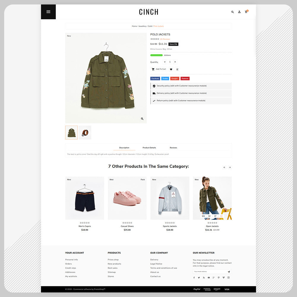 theme - Мода и обувь - Cinch Fashion Super Market - 4