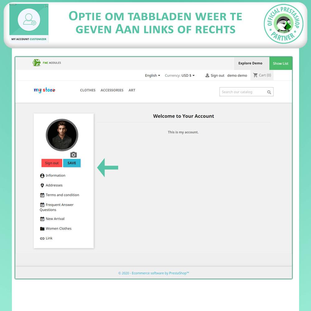 module - Administratieve tools - Mijn Account Aanpassen - 2