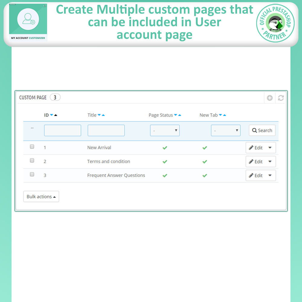 module - Administrative Tools - My Account Customizer - 9