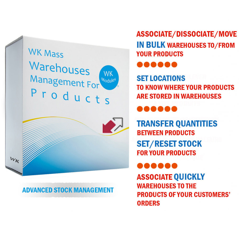 module - запасов и поставщиков - WK Mass Warehouses Management For Products - 1