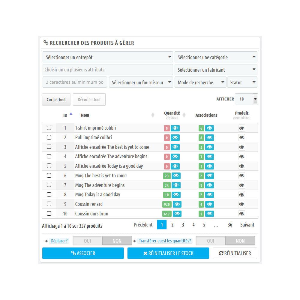 module - Gestion des Stocks & des Fournisseurs - WK Gestion en Masse Entrepôts Pour Produits - 2