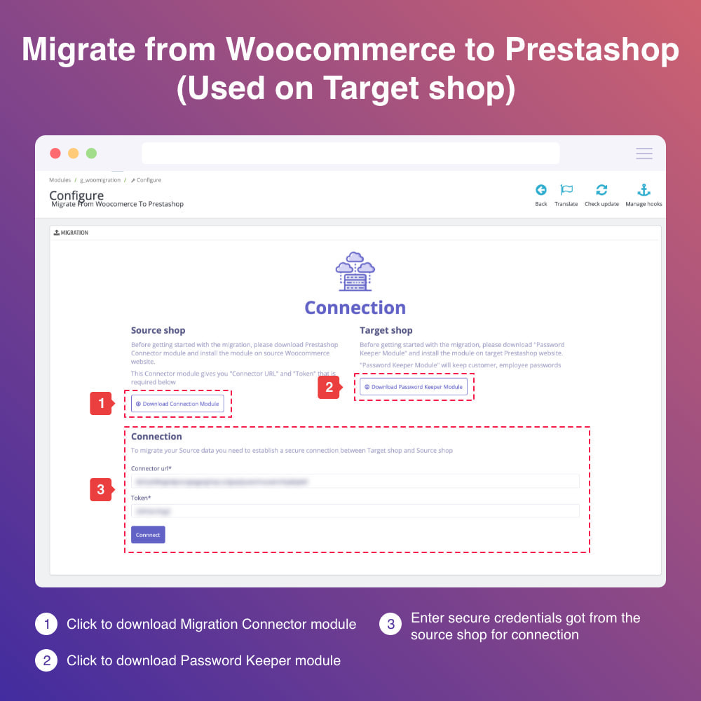 module - Migracja & Backup - Migrate WooCommerce to Prestashop - 3