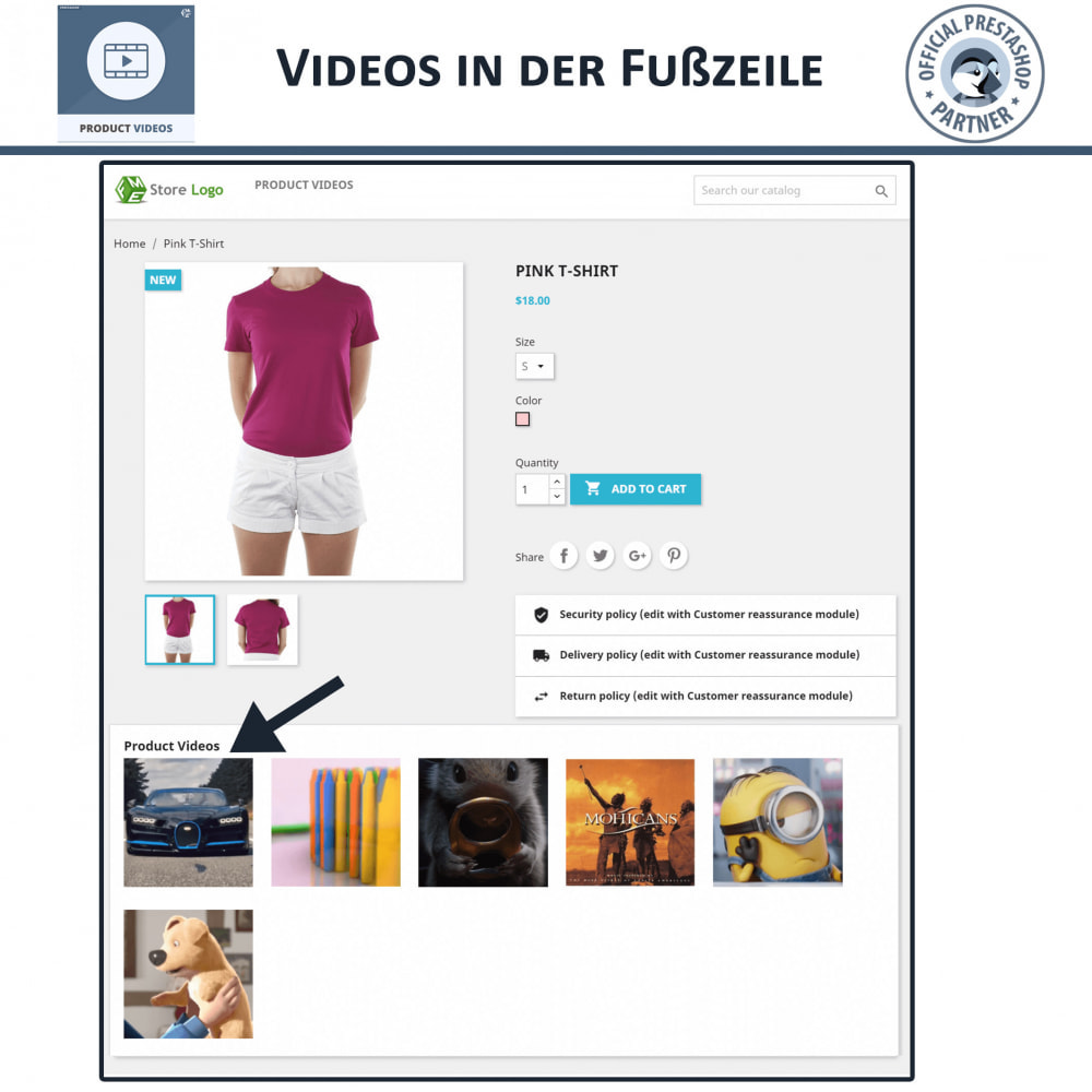 module - Videos & Musik - Product Videos - Upload or Embed YouTube, Vimeo - 6