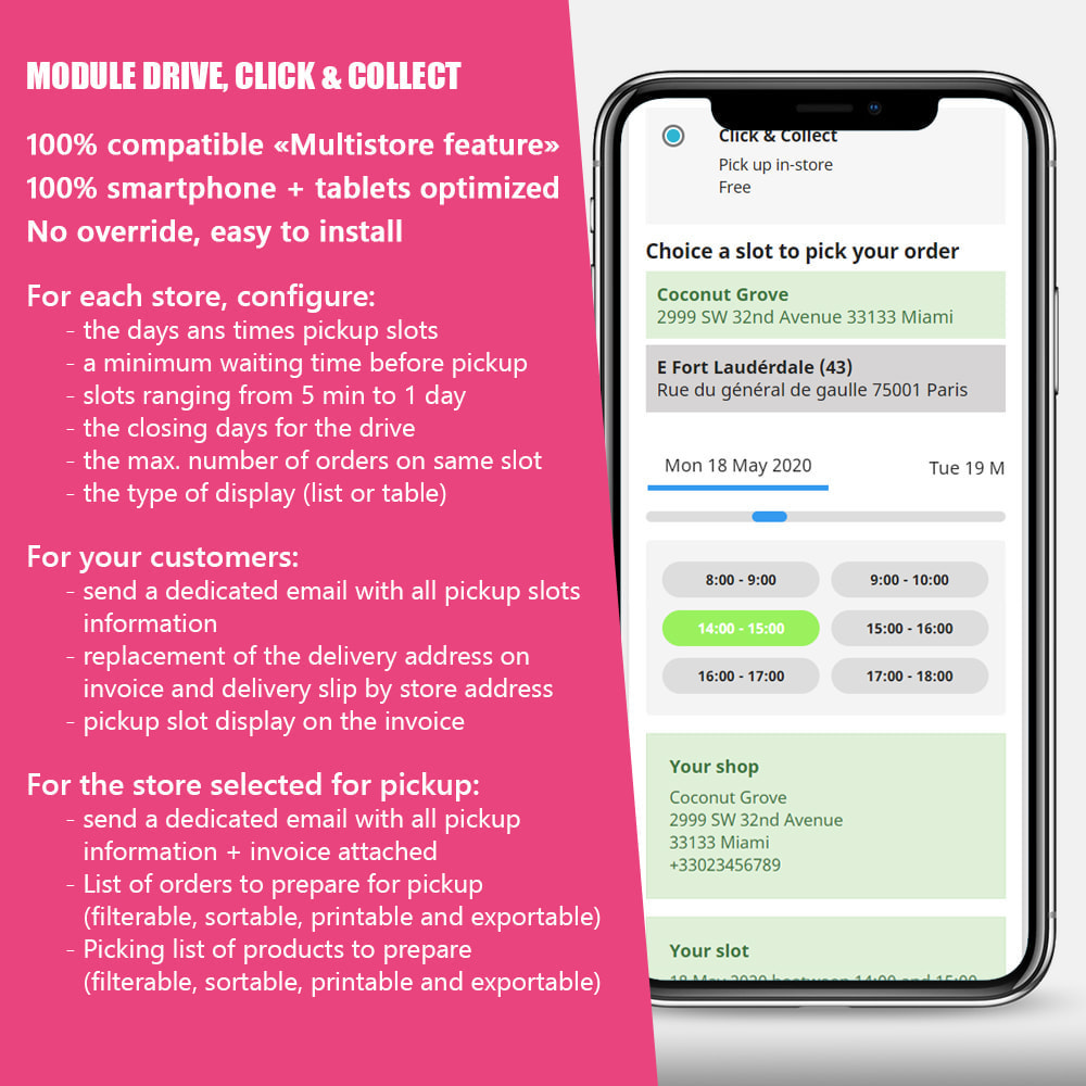 module - Punto di raccolta & Ritiro in negozio - Drive and Click & Collect / Pick up in-store - 1
