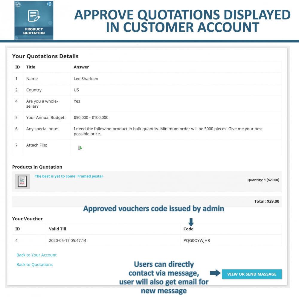 module - Quotes - Product Quotation - Allow Customer to Ask For Quote - 7