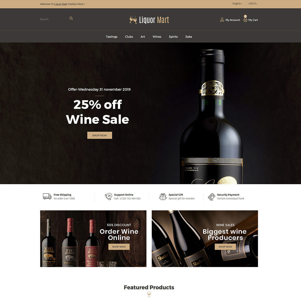 theme - Drank & Tabak - Liquor Wine - Drink Alcoholic Juice Store - 1