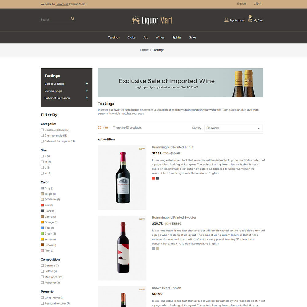 theme - Drank & Tabak - Liquor Wine - Drink Alcoholic Juice Store - 4