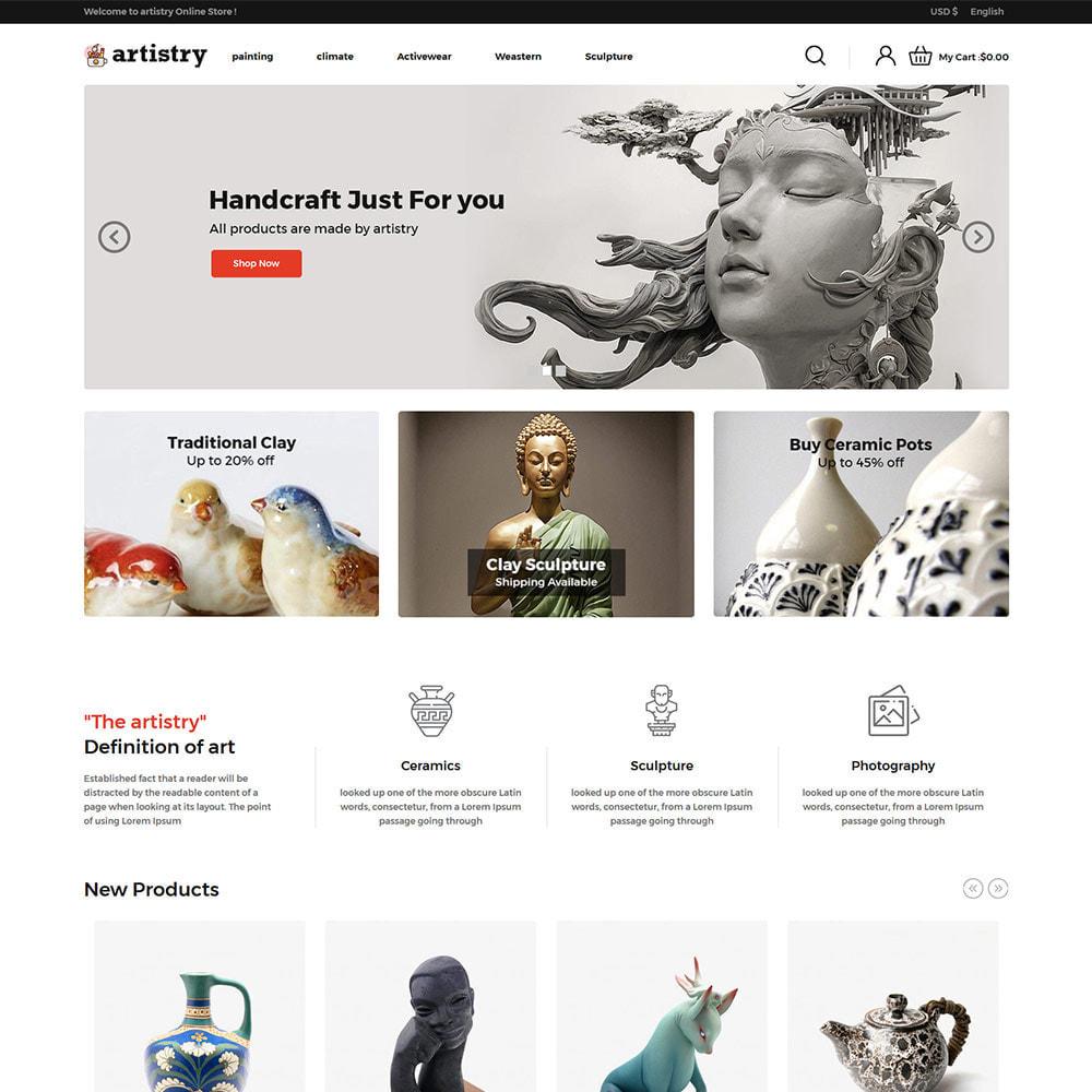 theme - Искусство и Культура - Artist  - Paint  Handcraft Art Store - 2