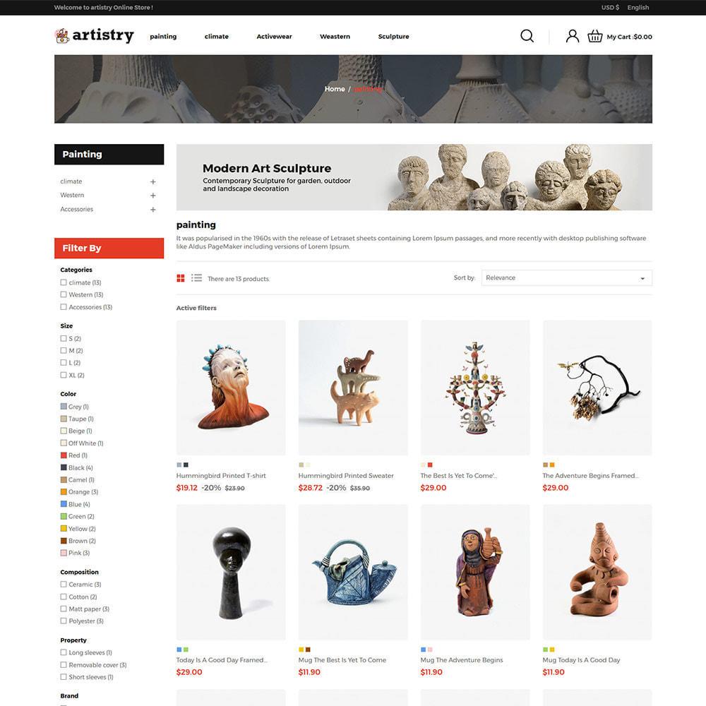 theme - Art & Culture - Artist  - Paint  Handcraft Art Store - 3