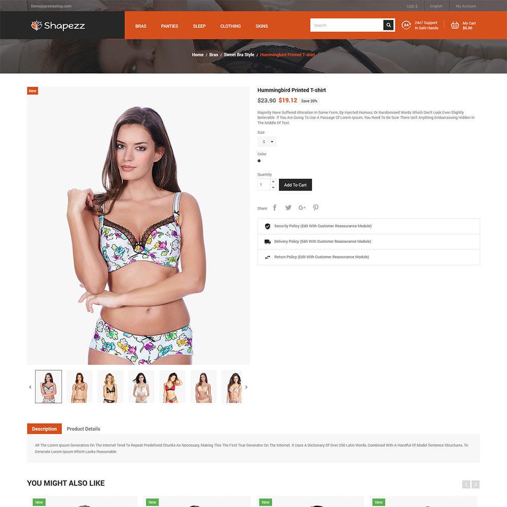 theme - Lingerie & Adultos - Shapezz Adult - Lingerie Bra Panties Store - 6