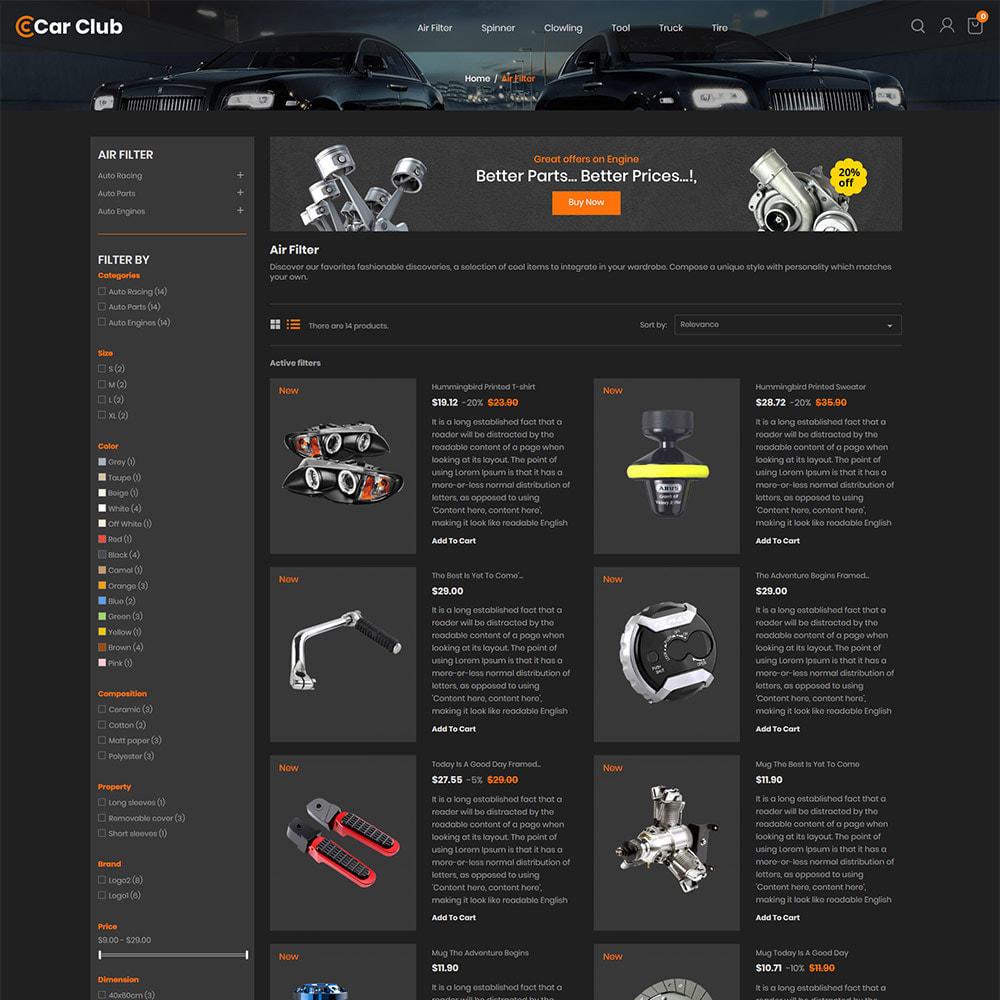 theme - Samochody - Carclub - sklep z częściami zamiennymi do Auto - 5