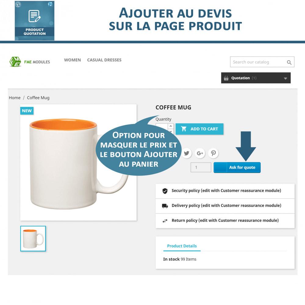module - Devis - Devis Produit, Autoriser le client à demander un devis - 3