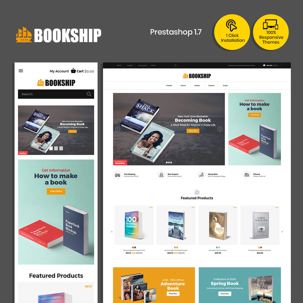 theme - Art & Culture - Bookship - Book Online Library Magazine Store - 2