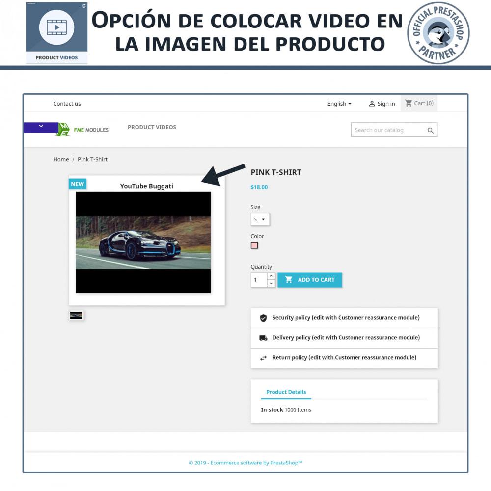 module - Vídeos y Música - Videos de productos - Cargue o incruste YouTube, Vimeo - 2