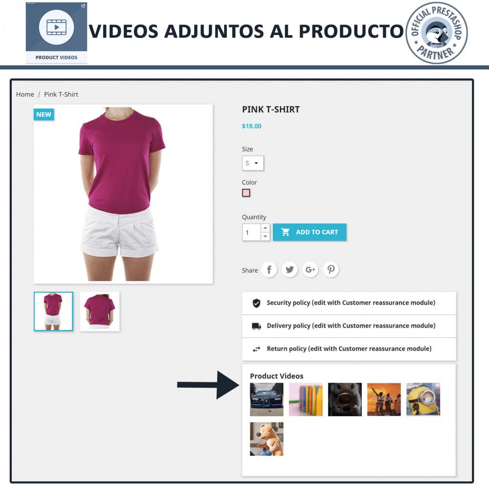 module - Vídeos y Música - Videos de productos - Cargue o incruste YouTube, Vimeo - 7