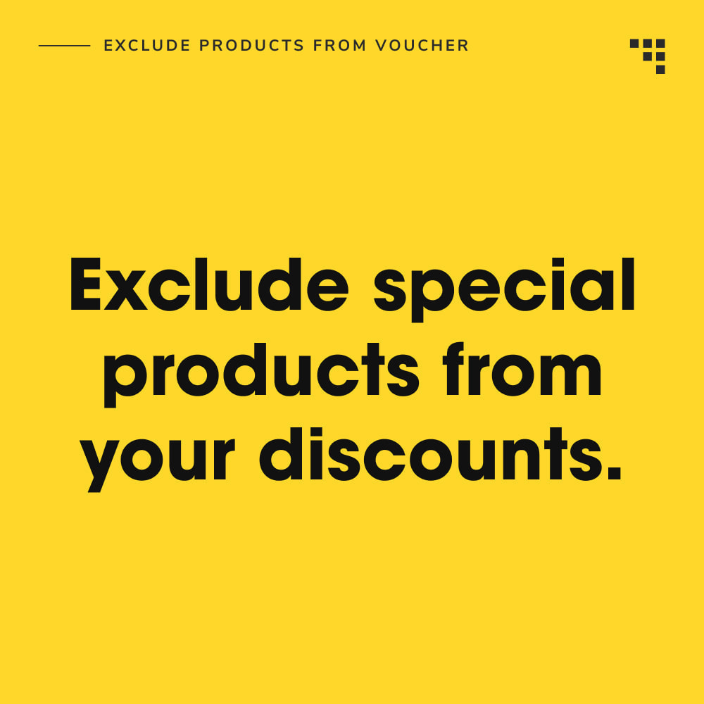 module - Promotions & Cadeaux - Exclude Products from Voucher - 2