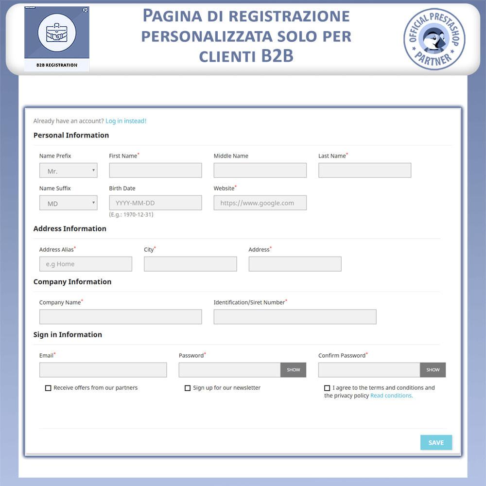module - Iscrizione e Processo di ordinazione - Registrazione B2B - 3