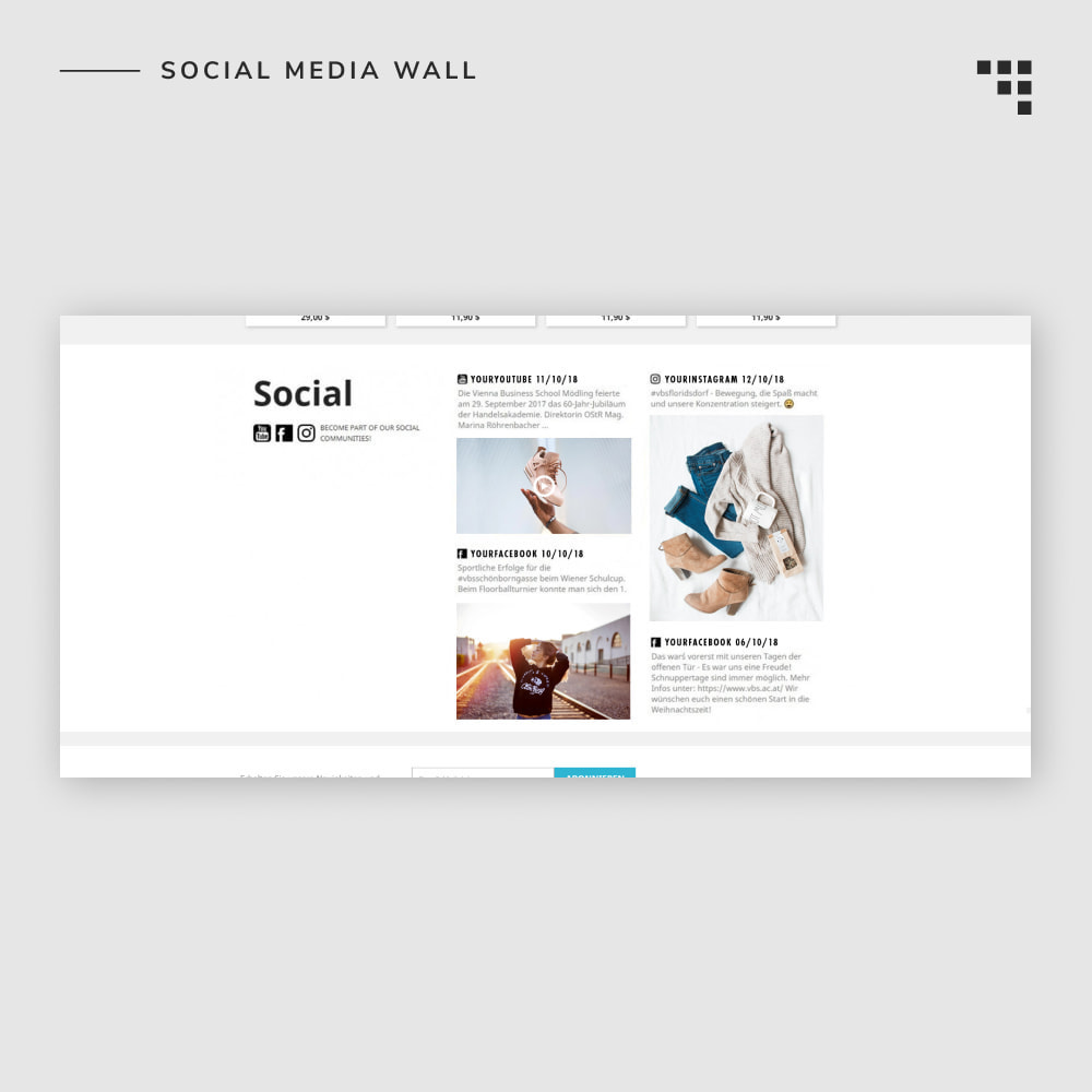 module - Products on Facebook & Social Networks - Social Media Wall - 6