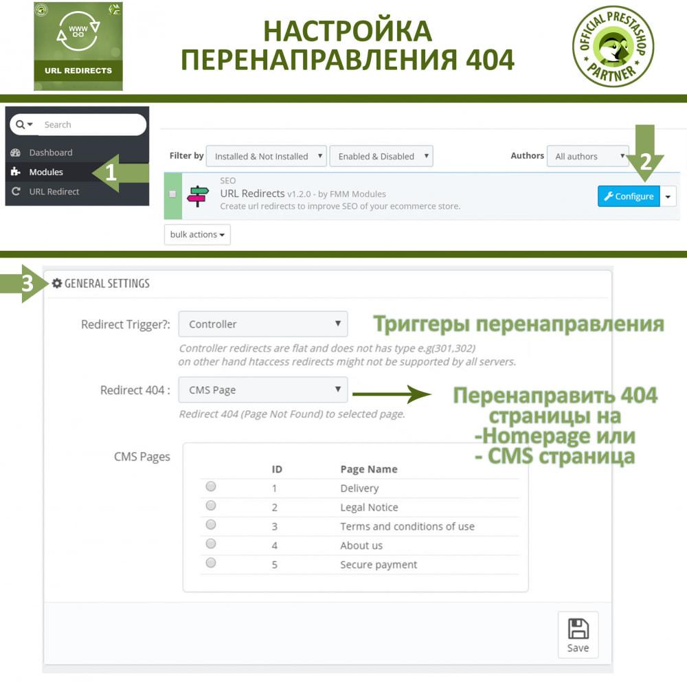 module - Управления адресами URL и перенаправлением - Переадресация URL - 301, 302, 303 перенаправления - 2