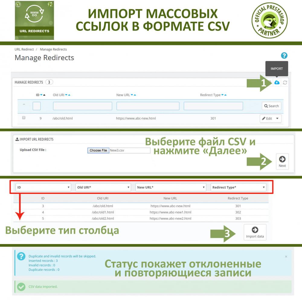 module - Управления адресами URL и перенаправлением - Переадресация URL - 301, 302, 303 перенаправления - 4