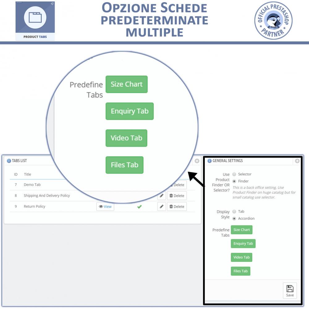 module - Altre informazioni & Product Tab - Tabs prodotto: Aggiungi altre Tabs Personalizzate - 5
