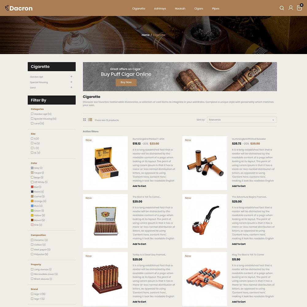 theme - Napoje & Wyroby tytoniowe - Cygaro - Napoje, Alkohole, Whisky, Sklep z tytoniem - 5