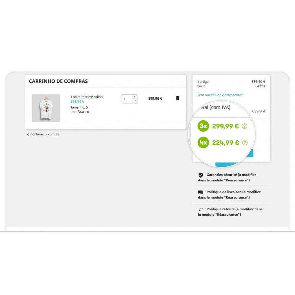 module - Formas de Pagamento Alternativas - 3x 4x Oney – O Pagamento fracionado com a garantia ONEY - 1