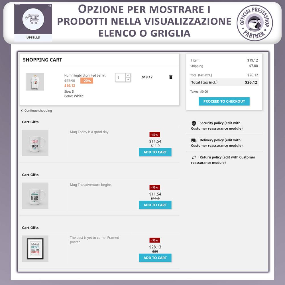 module - Cross-selling & Product Bundle - Prodotti Upsell - Push on Cart - 7