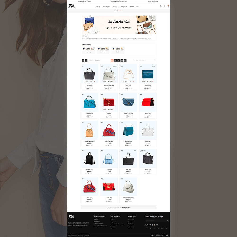 theme - Mode & Chaussures - Zebra Fashion Store - 3