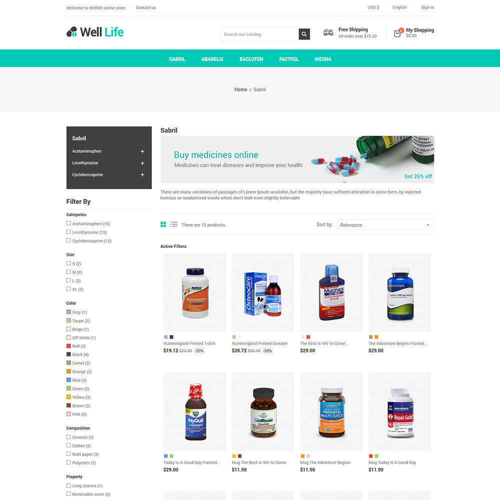 theme - Santé & Beauté - Well Life - Medicine Medical Drug Pharmacy Store - 4