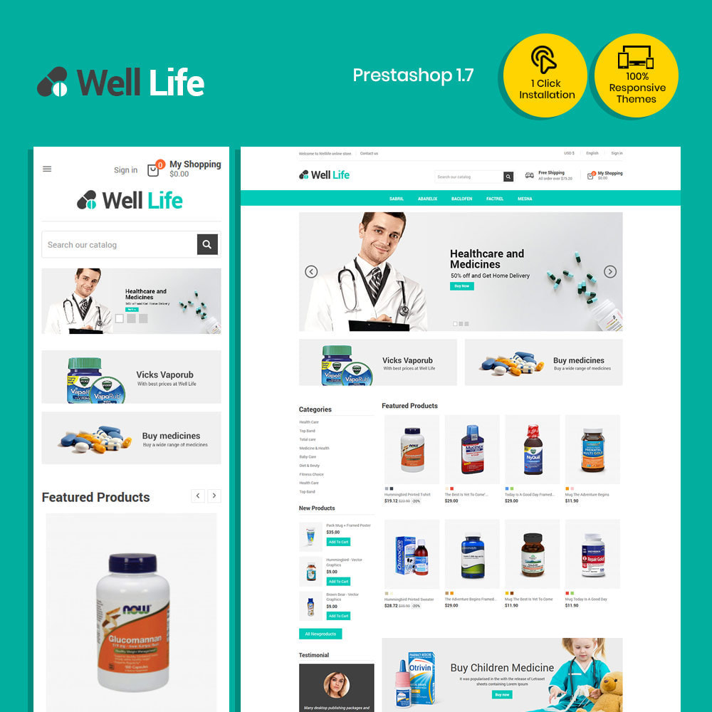 theme - Salud y Belleza - Well Life - Medicine Medical Drug Pharmacy Store - 2