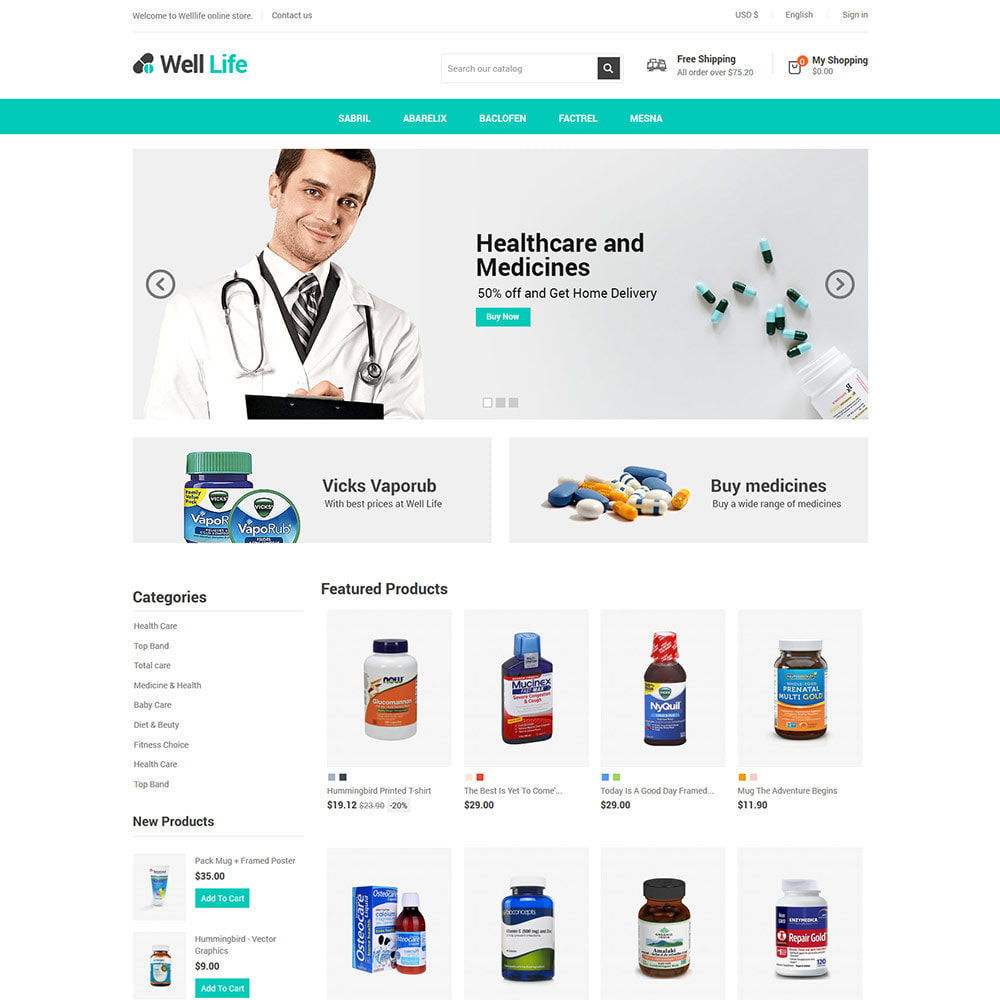 theme - Salud y Belleza - Well Life - Medicine Medical Drug Pharmacy Store - 3