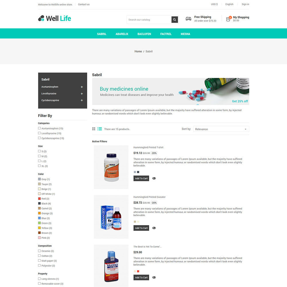 theme - Salud y Belleza - Well Life - Medicine Medical Drug Pharmacy Store - 5