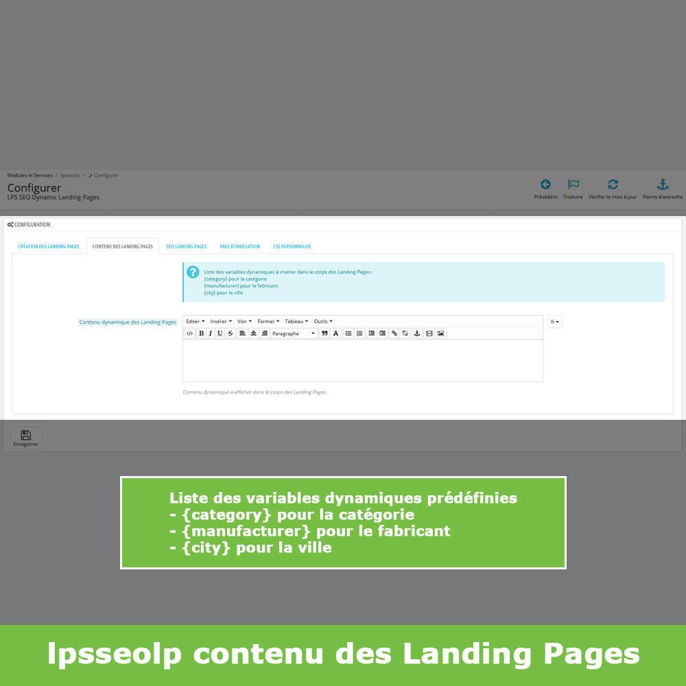 module - SEO (référencement naturel) - SEO Dynamic Landing Pages - 7