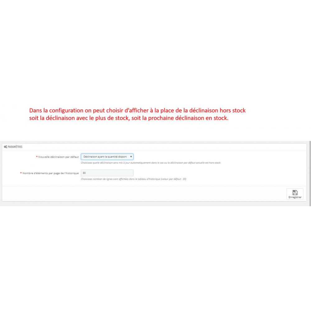 module - Déclinaisons & Personnalisation de produits - Déclinaison en stock en premier - 3