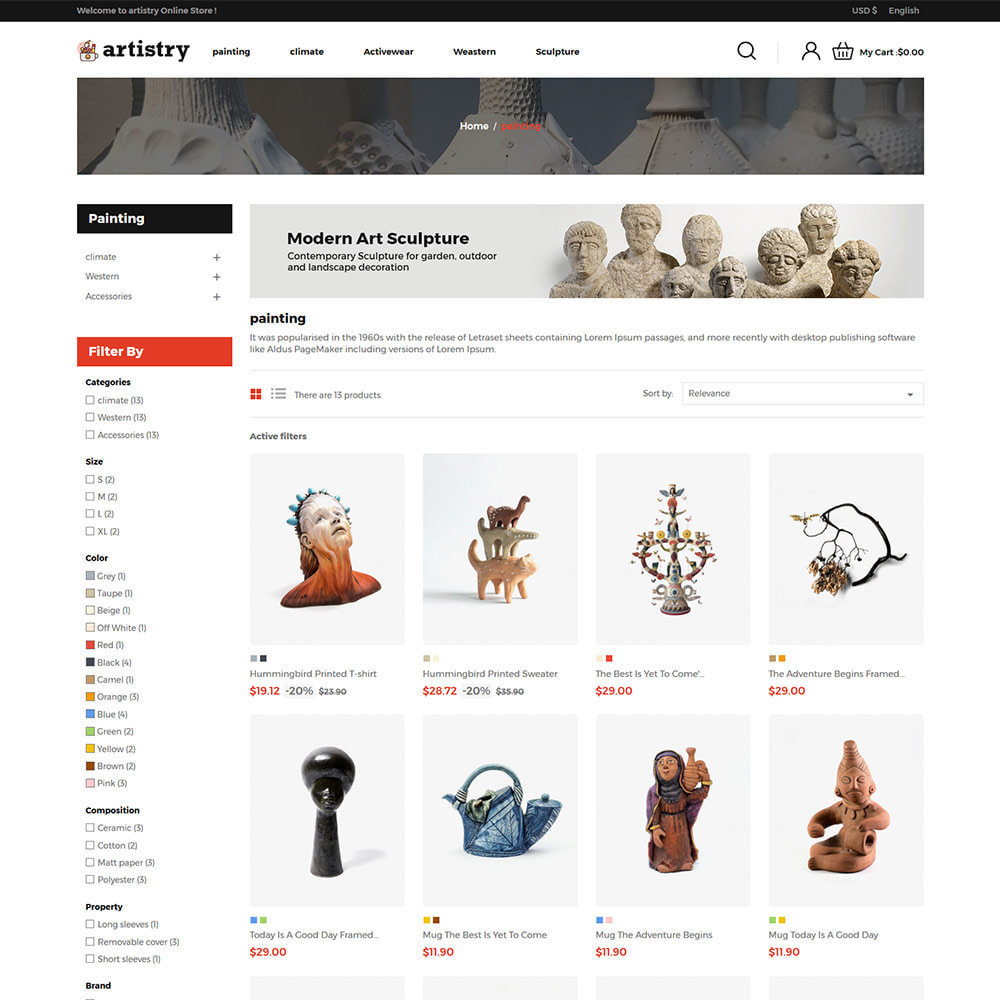 theme - Arte y Cultura - Artista - Tienda de arte Paint Handcraft - 4