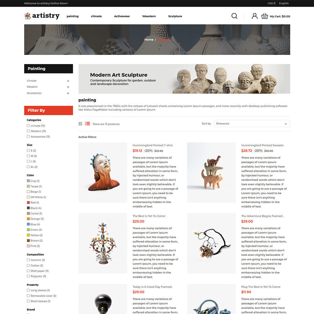 theme - Arte & Cultura - Artista - Paint Artcraft Art Store - 5