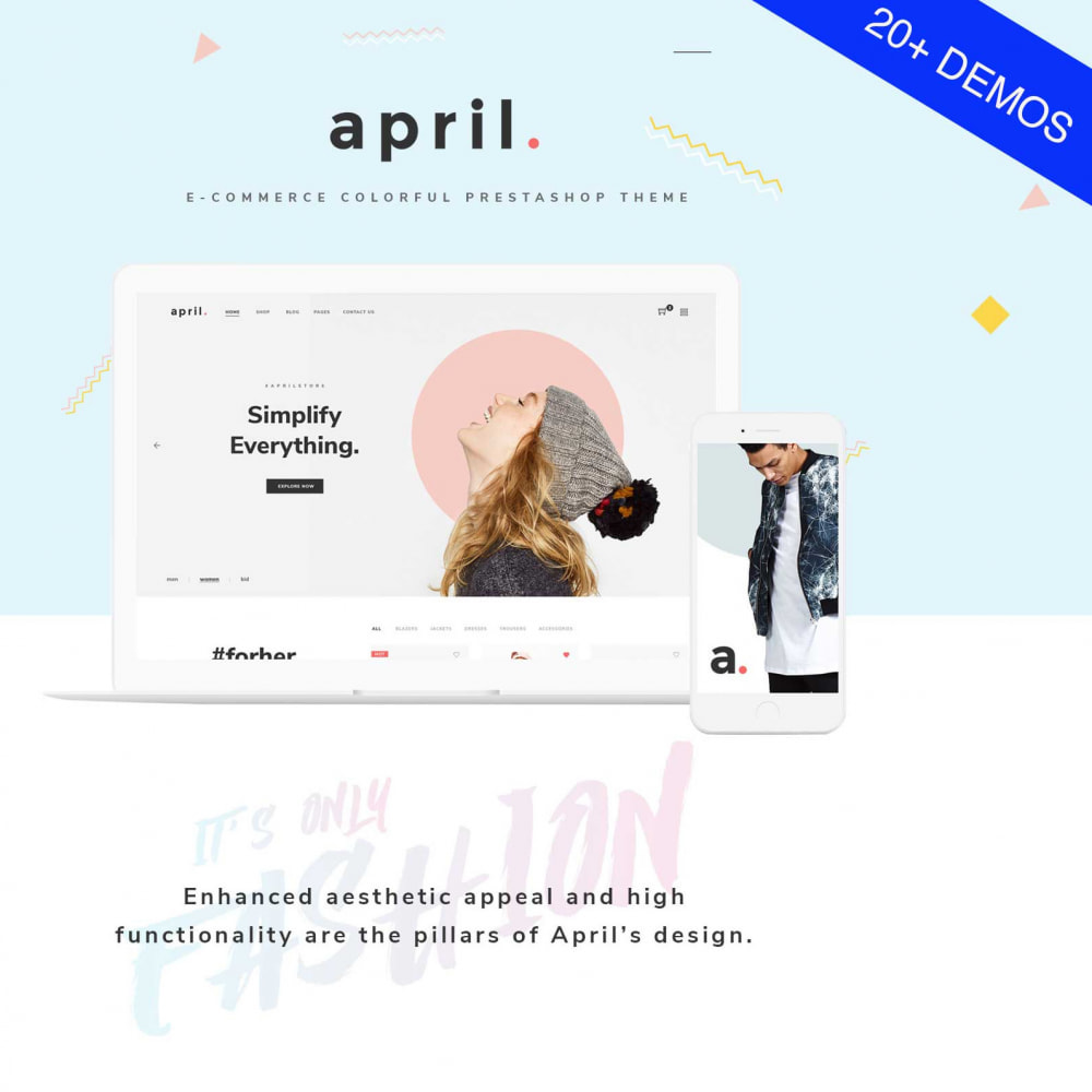 theme - Mode & Schuhe - April  Store eCommerce Bootstrap 4 - 1