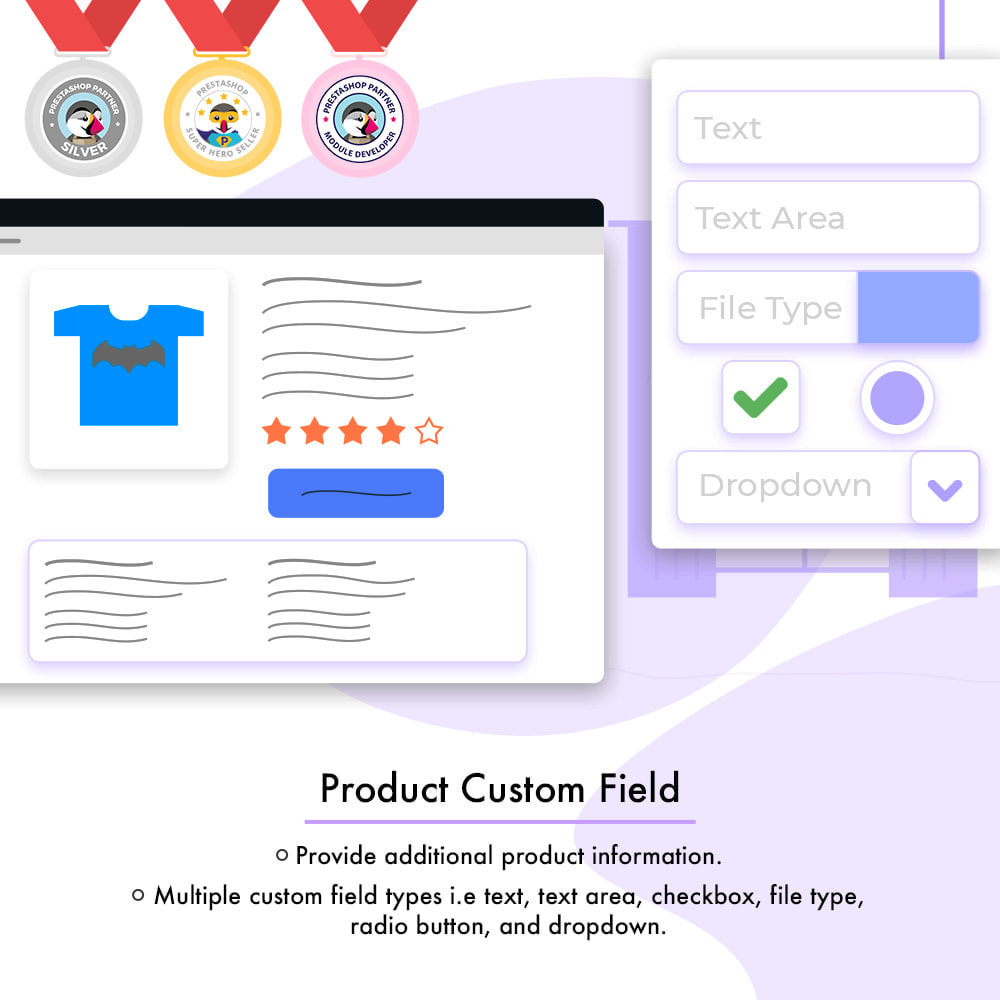 module - Combinations & Product Customization - Product Custom Field - 1