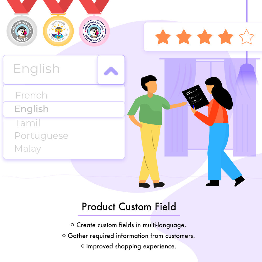 module - Combinations & Product Customization - Product Custom Field - 2