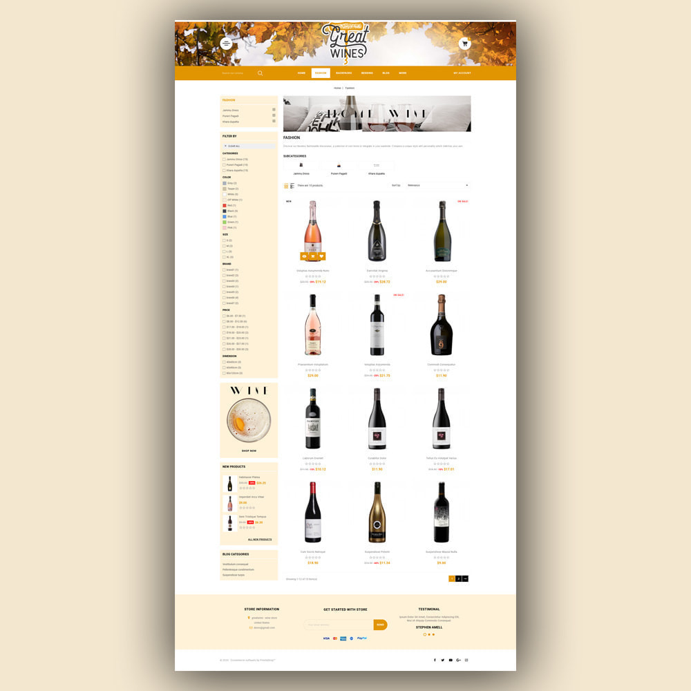 theme - Drink & Tobacco - Greatwine - Wine Store - 4