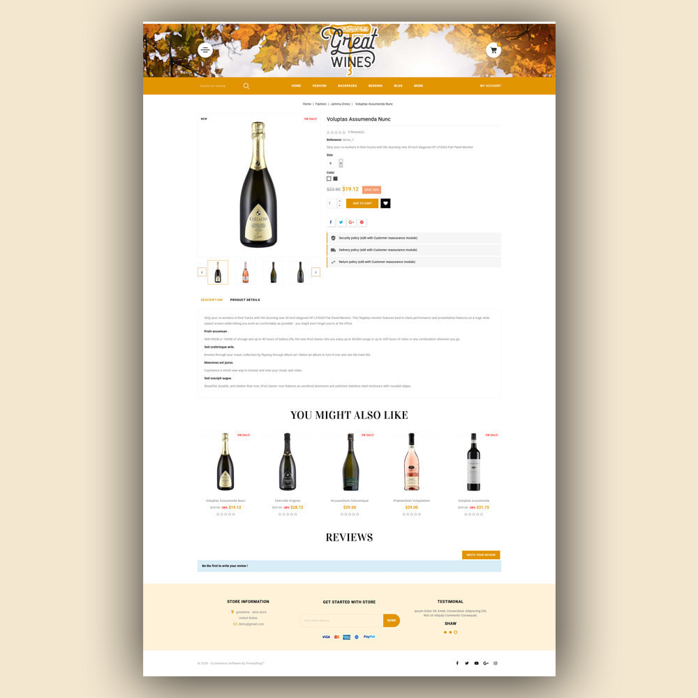 theme - Drink & Tobacco - Greatwine - Wine Store - 6